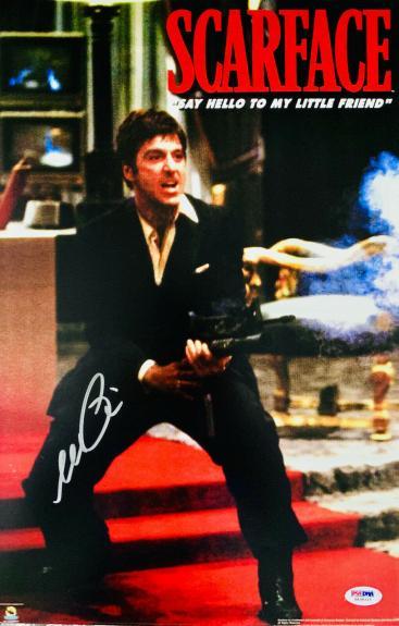 Al Pacino Signed 11 x 17 Scarface Movie Poster Photo Tony Montana - PSA DNA 6