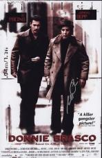 Al Pacino Signed 11x17 Mini Poster Full Auto Donnie Brasco  Psa/dna Itp X1