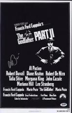 Al Pacino Signed 11x17 Mini Poster Full Auto Godfather Ii 2 Psa/dna Itp X4
