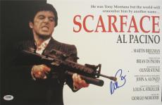 Al Pacino Signed 11x17 Mini Poster Full Auto Scarface  Psa/dna Itp 5a00772