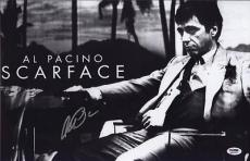 Al Pacino Signed 11x17 Mini Poster Full Auto Scarface Psa/dna Itp X1