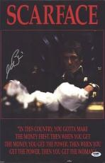 Al Pacino Signed 11x17 Mini Poster Full Auto Scarface Psa/dna Itp X2