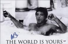 Al Pacino Signed 11x17 Mini Poster Full Auto Scarface Psa/dna Itp X4