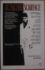Al Pacino Signed 11x17 Mini Scarface Movie Poster PSA/DNA autographed