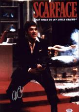 Al Pacino Signed 12x18 Scarface Mini Poster Photo Psa/dna Itp 7a45201