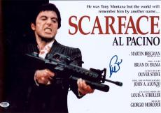 Al Pacino Signed 12x18 Scarface Mini Poster Photo Psa/dna  Itp 7a45270