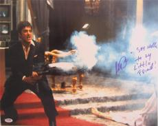 """Al Pacino Signed 16x20 Photo Full Scarface """"say Hello To My Little Friend"""" Psa"""