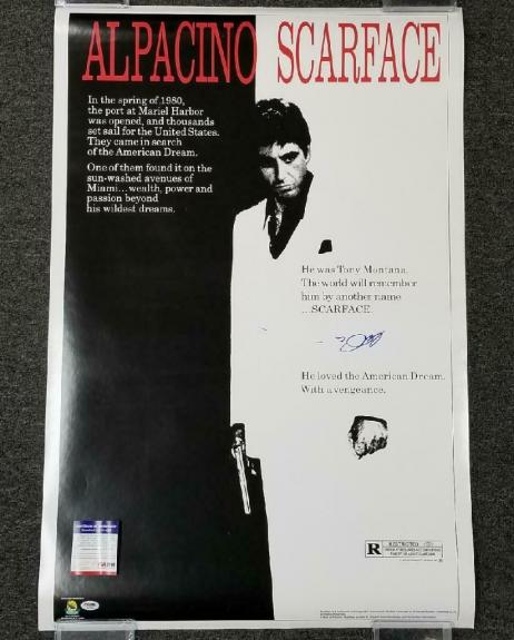 Al Pacino signed 24x36 Scarface Full Size Movie Poster Autograph ~ PSA/DNA COA