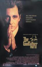 Al Pacino Signed 27x40 The Godfather 3 Full Size Poster 2a