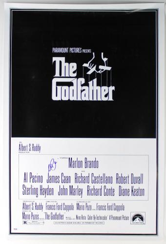 Al Pacino Signed 27x40 The Godfather Poster (Slight Damage) PSA/DNA ITP #5A80157