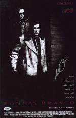 Al Pacino Signed Authentic 11x17 Mini Poster Donnie Brasco Psa/dna Itp 6a38303