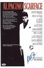 Al Pacino Signed Authentic 11x17 Mini Poster Scarface Psa/dna Itp 5a79195