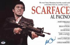 Al Pacino Signed Authentic 11x17 Mini Poster Scarface Psa/dna Itp 5a79249