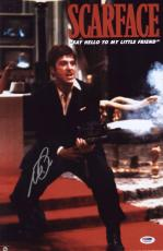 Al Pacino Signed Authentic 11x17 Mini Poster Scarface Psa/dna Itp 6a38260