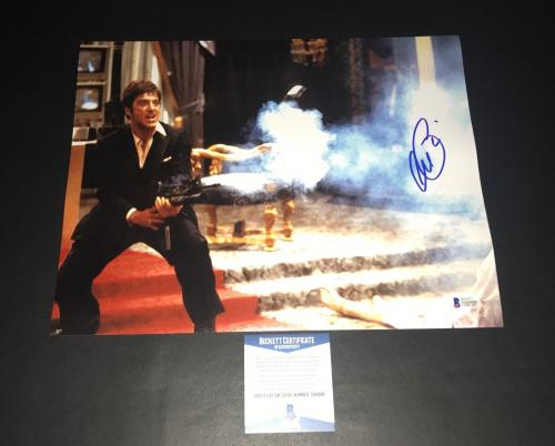 Al Pacino Signed Auto Scarface 11x14 Photo Bas Beckett Coa 15