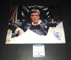 Al Pacino Signed Auto Scarface 11x14 Photo Bas Beckett Coa 6