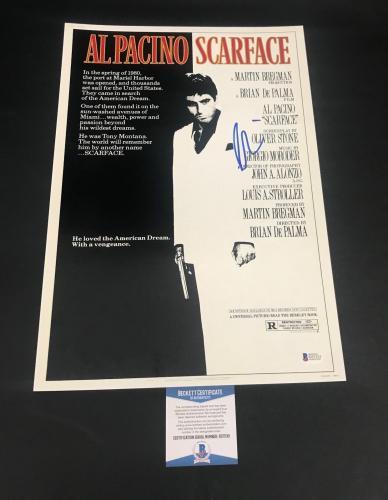 Al Pacino Signed Auto Scarface 12x18 Mini Movie Poster  Bas Coa 3