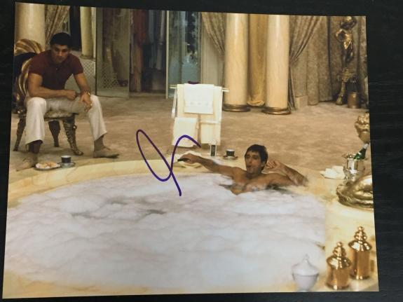 AL PACINO SIGNED AUTOGRAPH NEW CLASSIC IMAGE SCARFACE TUB SCENE 8x10 PHOTO COA