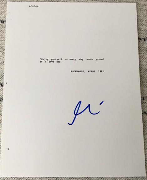 """Al Pacino Signed Autograph """"scarface"""" Complete Movie Script Coa"""