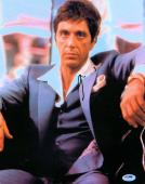 Al Pacino Signed Autographed 11X14 Photo Scarface Classic Gray Suit PSA V93161
