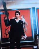 Al Pacino Signed Autographed 11X14 Photo Scarface Tony Gun in Air PSA AA21966
