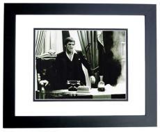 Al Pacino Signed - Autographed SCARFACE 8x10 Photo BLACK CUSTOM FRAME - Tony Montana