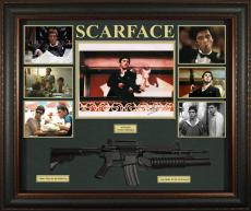 Al Pacino Signed Autographed Scarface Photo w Gun Custom Shadowbox Display AFTAL