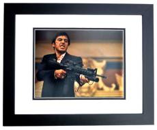 Al Pacino Signed - Autographed SCARFACE - Tony Montana 11x14 inch Photo BLACK CUSTOM FRAME - Guaranteed to pass PSA or JSA