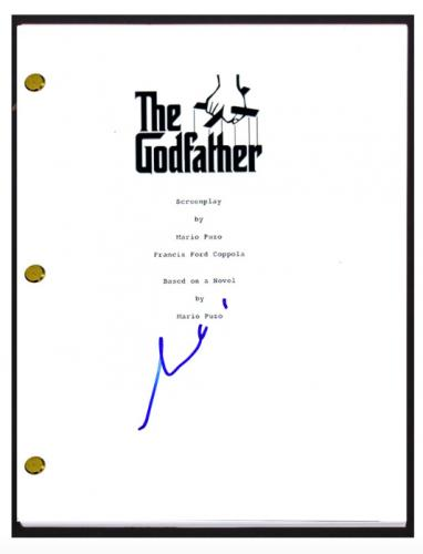 Al Pacino Signed Autographed The Godfather Full Movie Script COA