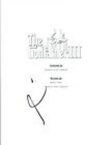 Al Pacino Signed Autographed THE GODFATHER PART III 3 Movie Script COA