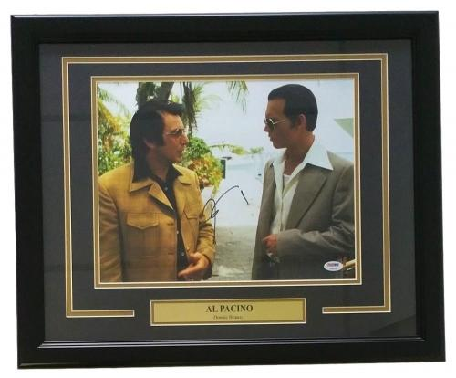 Al Pacino Signed Framed 11x14 Donnie Brasco Photo W/ Johnny Depp PSA AB95256