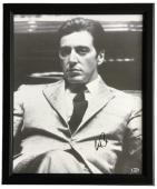 Al Pacino Signed Framed 16x20 Godfather Canvas Beckett I67856