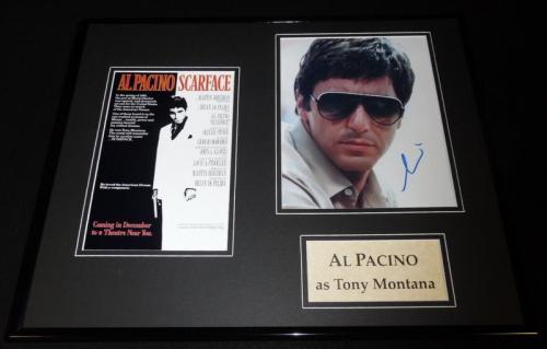 Al Pacino Signed Framed 16x20 Scarface Poster Photo Set AW Tony Montana