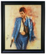 Al Pacino Signed Framed 22x27 Scarface Sling Canvas PSA 7A45937