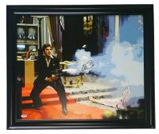 Al Pacino Signed Framed 22x25 Scarface Canvas PSA 7A45959