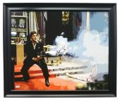 Al Pacino Signed Framed 22x25 Scarface Canvas PSA 7A45968
