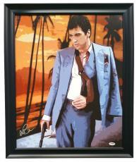 Al Pacino Signed Framed 25x22 Scarface Canvas PSA 7A45986