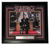 Al Pacino Signed & Framed Scarface 11x14 Say Hello To My Friend Photo BAS