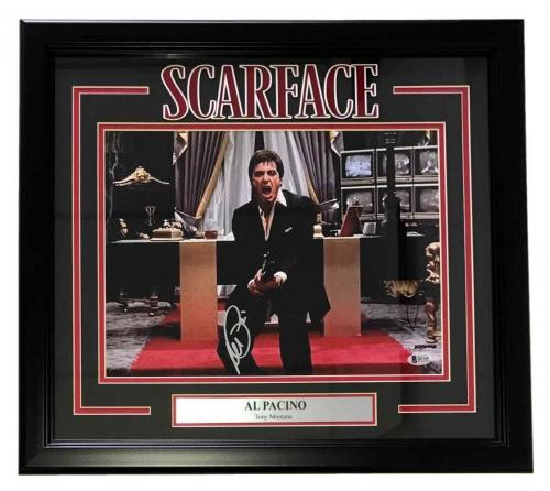 Al Pacino Signed Framed Scarface 11x14 Say Hello To My Friend Photo BAS