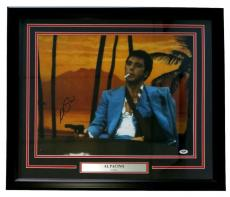 Al Pacino Signed Framed Scarface 16x20 Arm Sling Photo PSA