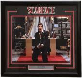 Al Pacino Signed Framed Scarface 16x20 Say Hello Photo Beckett BAS