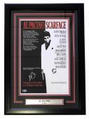 Al Pacino Signed Framed Scarface Tony Montana 17x24 Movie Poster Beckett BAS