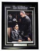 Al Pacino Signed & Framed The Godfather 16x20 w/ Marlon Brando Photo Beckett BAS