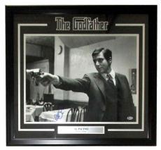 Al Pacino Signed Framed The Godfather 16x20 Gun Point Photo Beckett BAS