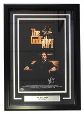 Al Pacino Signed Framed The Godfather Part II 11x17 Movie Poster Beckett BAS