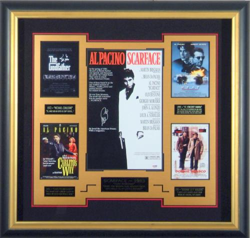 Al Pacino Signed Gangster Movie Display - Scarface