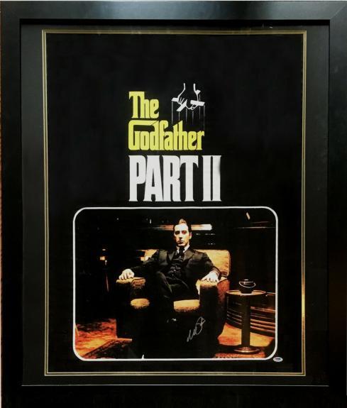 Al Pacino signed Godfather 2 Movie Poster 36x44 photo framed autograph PSA COA