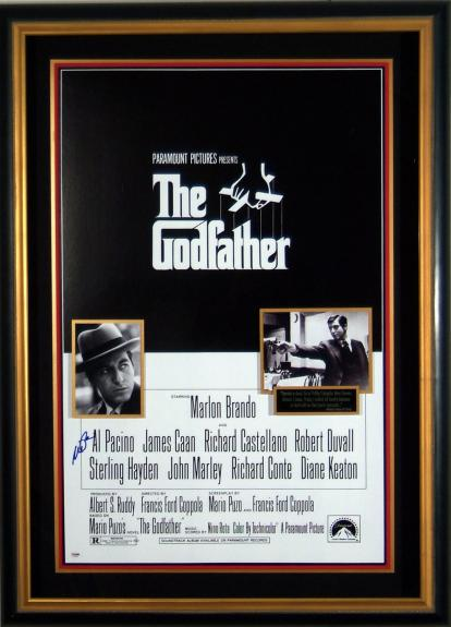 Al Pacino Signed Godfather Poster Framed - PSA Collection