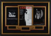 Al Pacino Signed Mofia Movie Poster Collection Framed