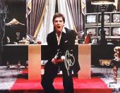 Al Pacino Signed Scarface 11x14 Say Hello To My Little Friend Photo Beckett BAS
